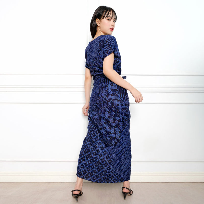 Dress Batik Galina Biru