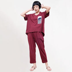 One Set Autum Maroon