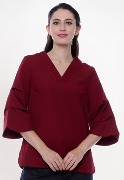 Blouse Raylina Maroon