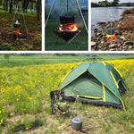 Portable Tripod Hanging Campfire Picnic Pot Cast Iron Fire Grill Hanging Tripod - Chilling Outdoors