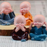 4 pieces of Buddha Statues monks - Chilling Outdoors