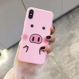 Cute Pig Nose Pop socket Phone Case - Chilling Outdoors