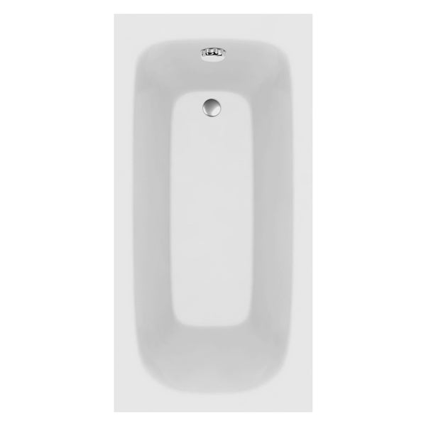 L4 1600 x 700mm Single Ended Bath - White