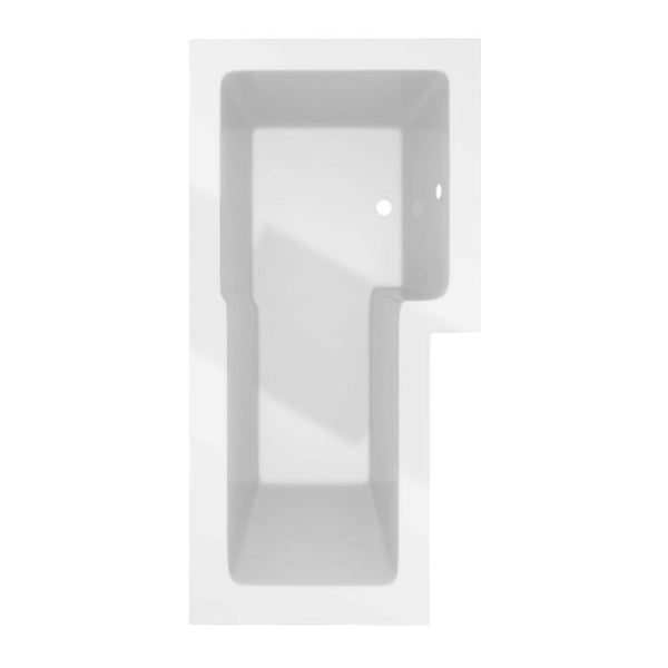 Limitless 1500mm L Shape Shower Bath inc Screen and Panel - Right Hand White