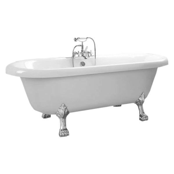 Artistic 1750 x 760mm Free Standing Roll Top Bath with Legs - White