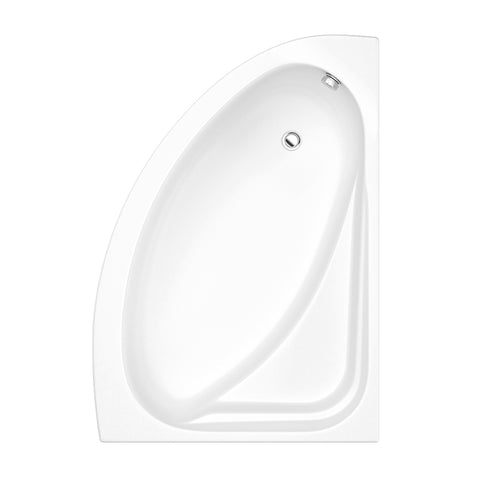Flair 1500 x 1040mm Offset Corner Bath  - Right Hand White
