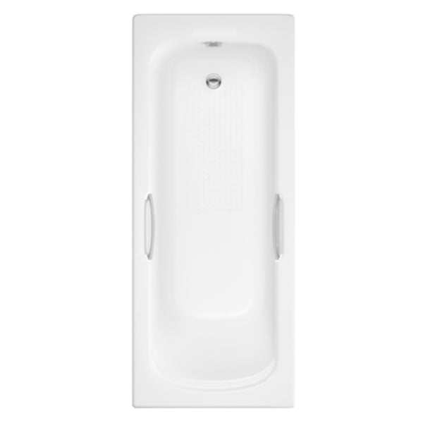Alert 1675mm x 700mm Twin Gripped Bath - Anti Slip White
