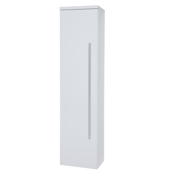 Pure 1400mm Bathroom Wall Mounted Tall Side Unit - White