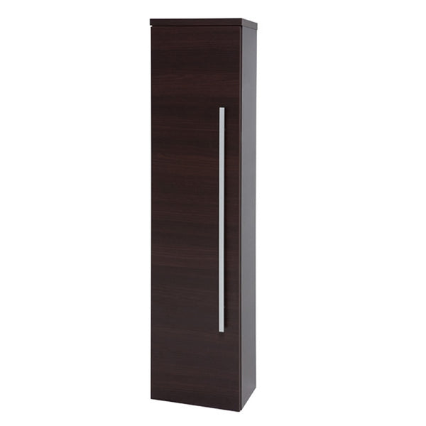 Pure 1400mm Bathroom Wall Mounted Tall Side Unit - Chestnut