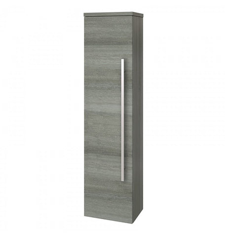 Pure 1400mm Bathroom Wall Mounted Tall Side Unit - Grey Ash