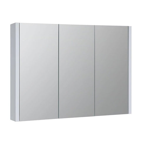 Pure 900mm Wall Mounted Mirror Bathroom Cabinet - White