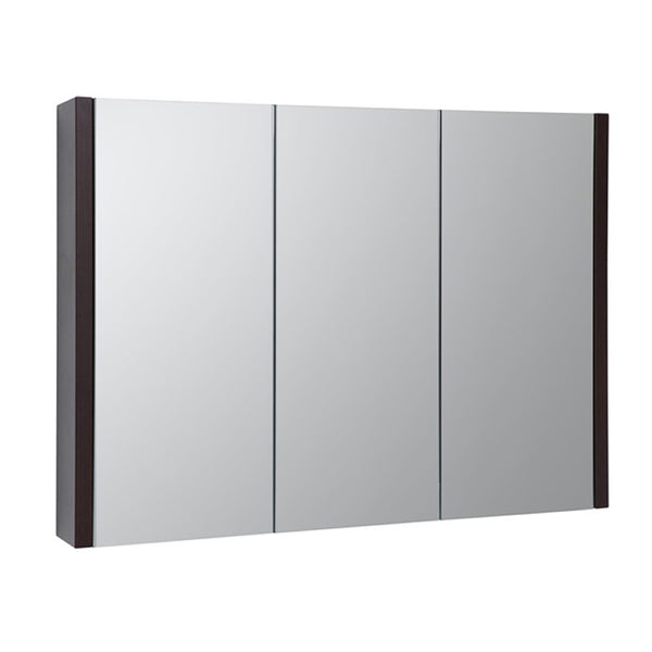 Pure 900mm Wall Mounted Mirror Bathroom Cabinet - Chestnut