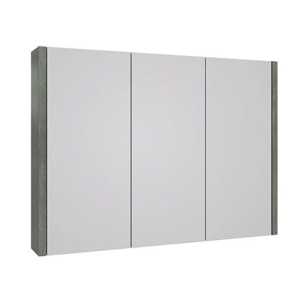 Pure 900mm Wall Mounted Mirror Bathroom Cabinet - Grey Ash