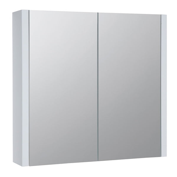 Pure 750mm Wall Mounted Mirror Bathroom Cabinet - White