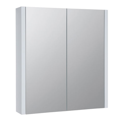 Pure 600mm Wall Mounted Mirror Bathroom Cabinet - White