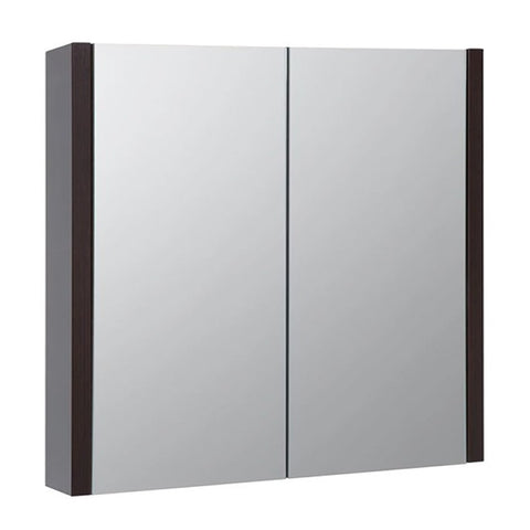 Pure 750mm Wall Mounted Mirror Bathroom Cabinet - Chestnut