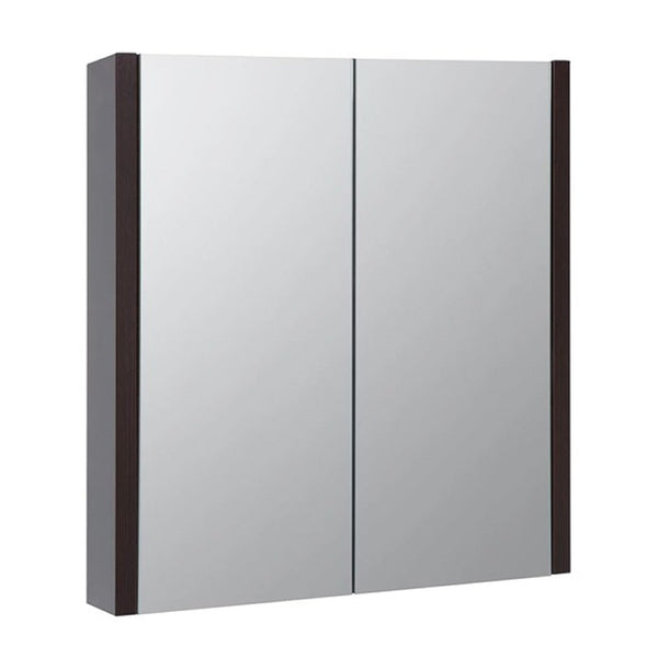 Pure 600mm Wall Mounted Mirror Bathroom Cabinet - Chestnut