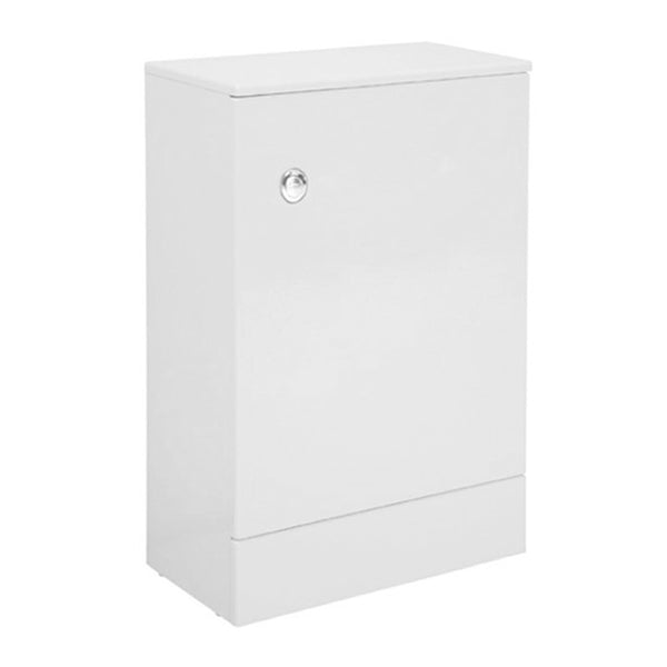 Fortune 500mm x 253mm WC Toilet Bathroom Slimline Furniture Unit inc Toilet Cistern - White