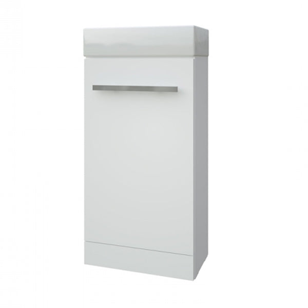 Pure 410mm x 220mm Cloakroom Bathroom Vanity Unit and Basin - White