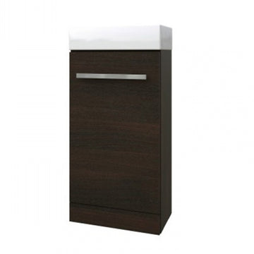 Pure 410mm x 220mm Cloakroom Bathroom Vanity Unit and Basin - Chestnut