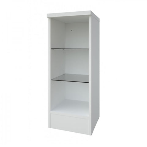 Pure 300mm Open Glass Shelf Unit - White