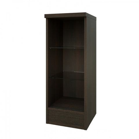 Pure 300mm Open Glass Shelf Unit - Chestnut