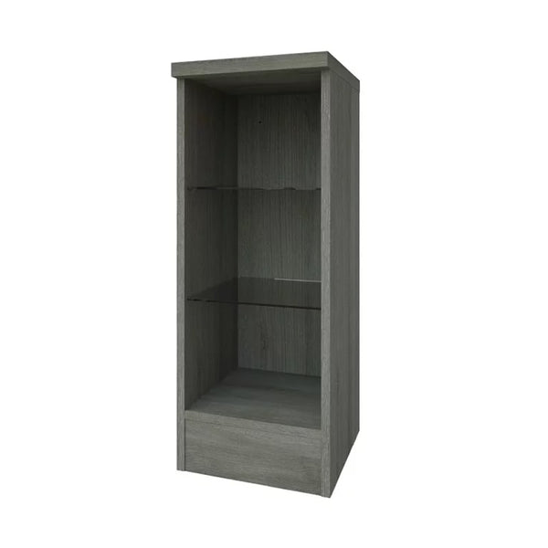 Pure 300mm Open Glass Shelf Unit - Grey Ash
