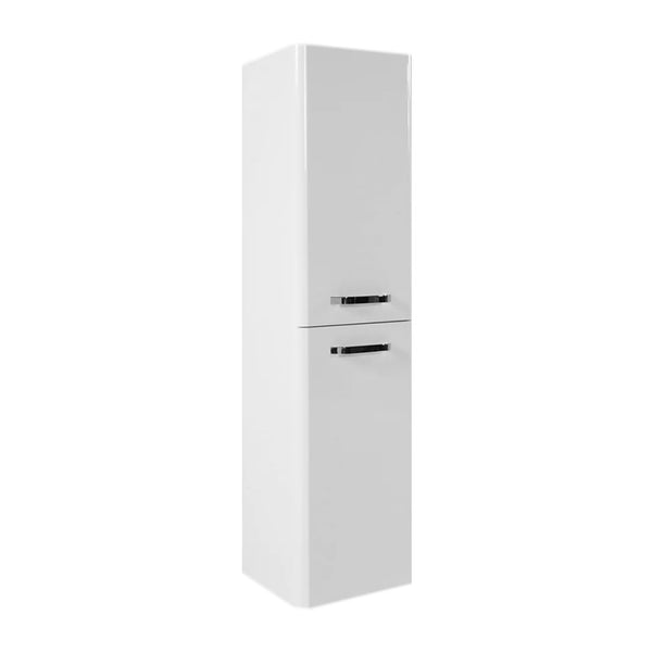 Optimal 1400mm Bathroom Wall Mounted Tall Side Unit - White