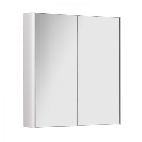 Optimal 500mm Wall Mounted Mirror Bathroom Cabinet - White