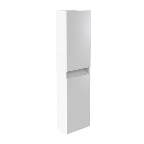 Inspired 1600mm Bathroom Wall Mounted Tall Side Unit - White Gloss LH and RH