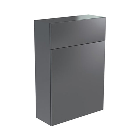 Inspired 500mm WC Toilet Bathroom Furniture Unit - Grey Gloss