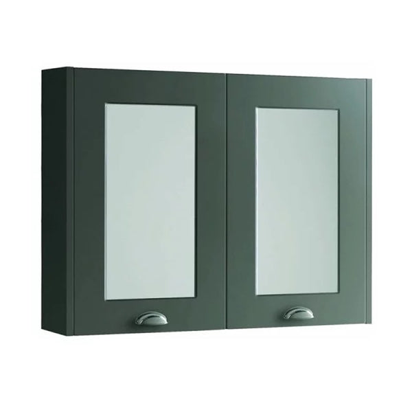 Artistic 800mm Wall Mounted Mirror Bathroom Cabinet - Matt Grey