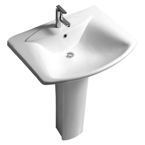Elise Basin 1 Tap Hole Basin and Pedestal