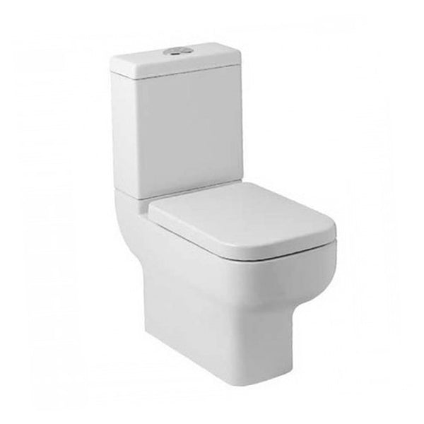 Optimism Back To Wall Close Coupled WC Toilet Pan, Cistern And Soft Close Seat