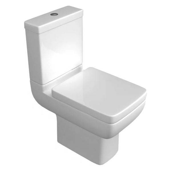 Optimism Close Coupled WC Toilet Pan, Cistern And Soft Close Seat