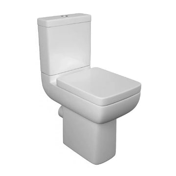 Optimisim Comfort Height Close Coupled WC Toilet Pan, Cistern And Soft Close Seat