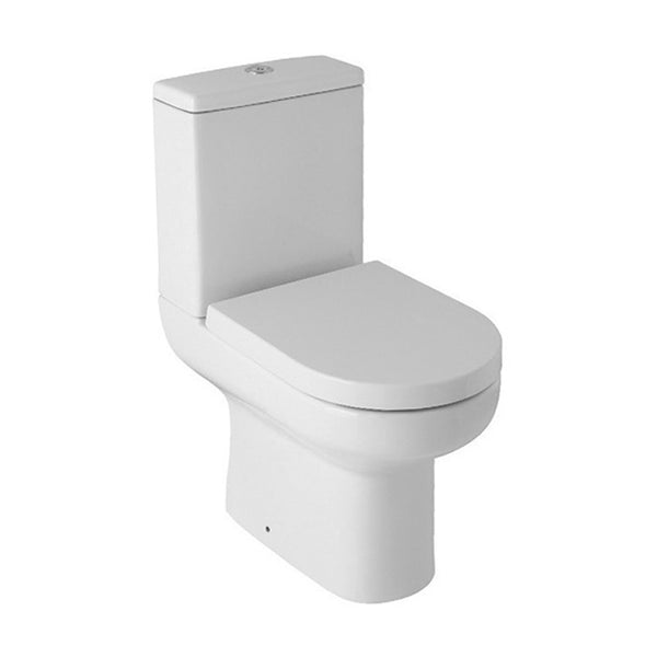 Refresh Close Coupled WC Toilet Pan, Close Coupled Dual Flush Cistern and Soft Close Toilet Seat