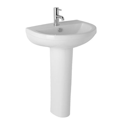 Refresh 570mm 1 Tap Hole Basin and Pedestal