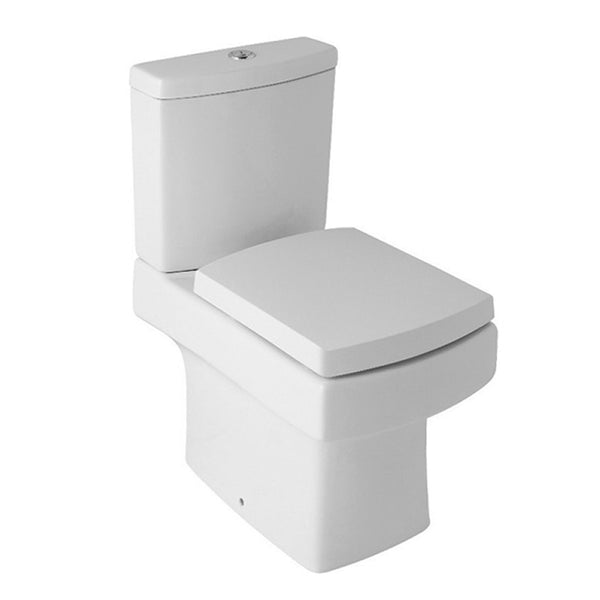 Enhance Close Coupled WC Toilet Pan, Close Coupled Dual Flush Cistern and Soft Close Toilet Seat