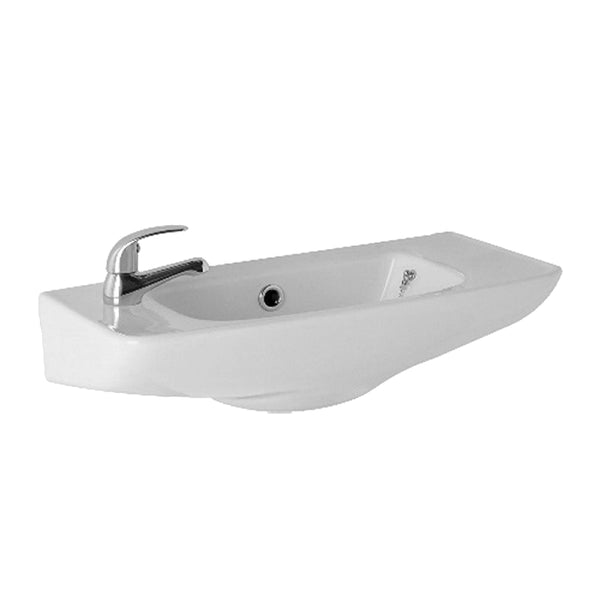 L4 510mm Cloakroom Basin 1 Tap Hole