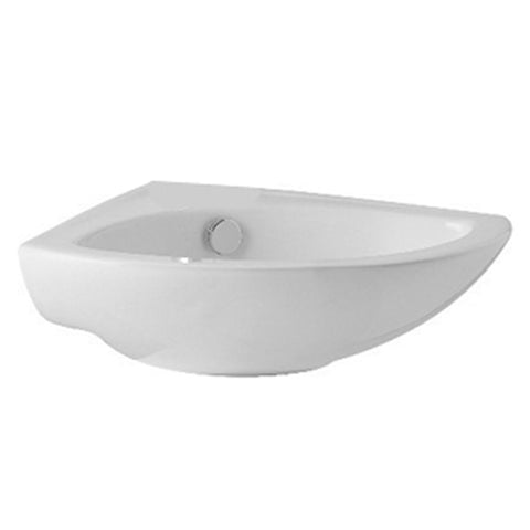 L4 410mm Cloakroom Corner Basin 2 Tap Hole