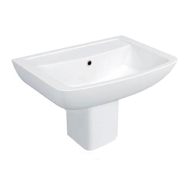 Purity 550mm 1 Tap Hole Basin and Semi Pedestal