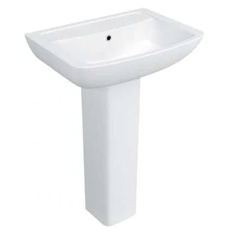 Purity 550mm 1 Tap Hole Basin and Pedestal