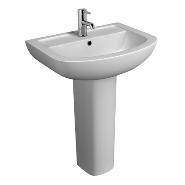Sweet 550mm 1 Tap Hole Basin and Pedestal