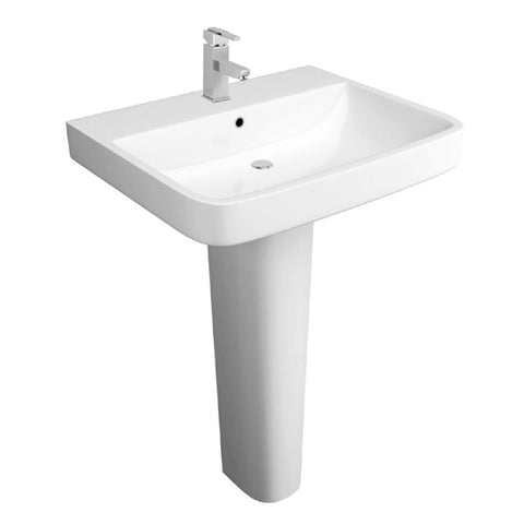 Creative 550mm 1 Tap Hole Basin and Pedestal