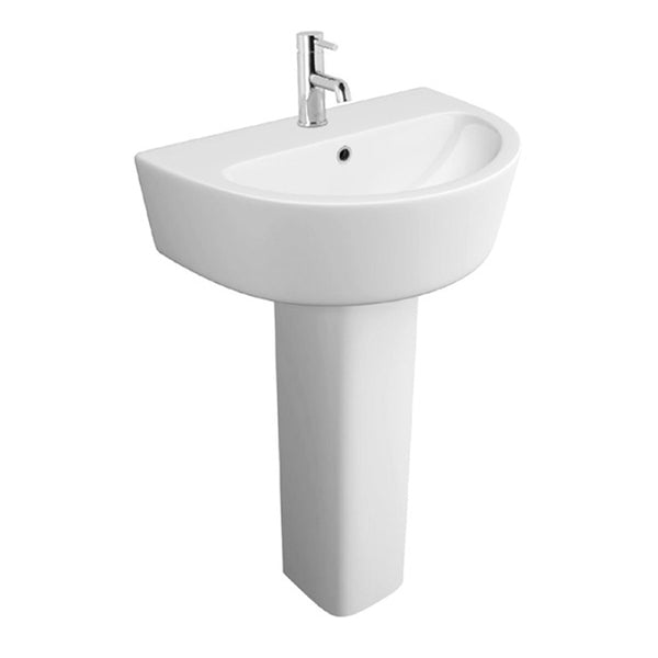 Graceful 550mm 1 Tap Hole Basin and Pedestal