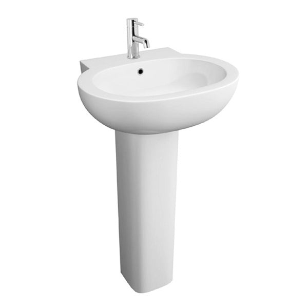 Rachel 550mm 1 Tap Hole Basin and Pedestal