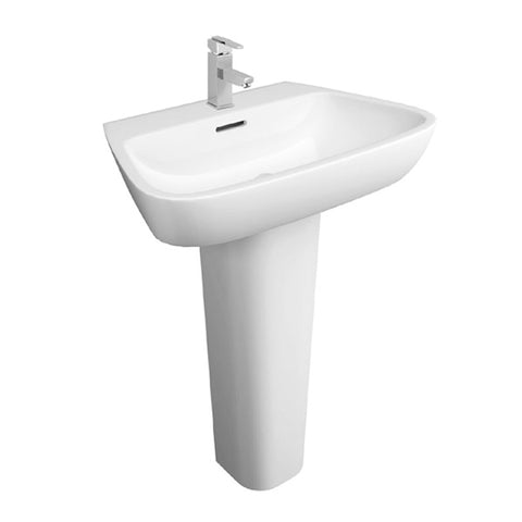 Nicola 600mm 1 Tap Hole Basin and Pedestal