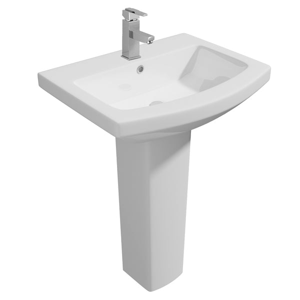 Thrive 550mm 1 Tap Hole Basin and Pedestal