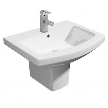 Thrive 550mm 1 Tap Hole Basin and Semi Pedestal